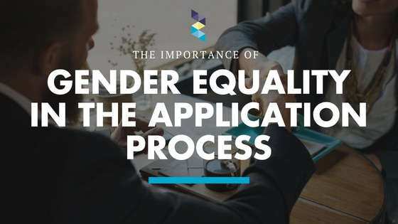 Is gender equality important in the application process?